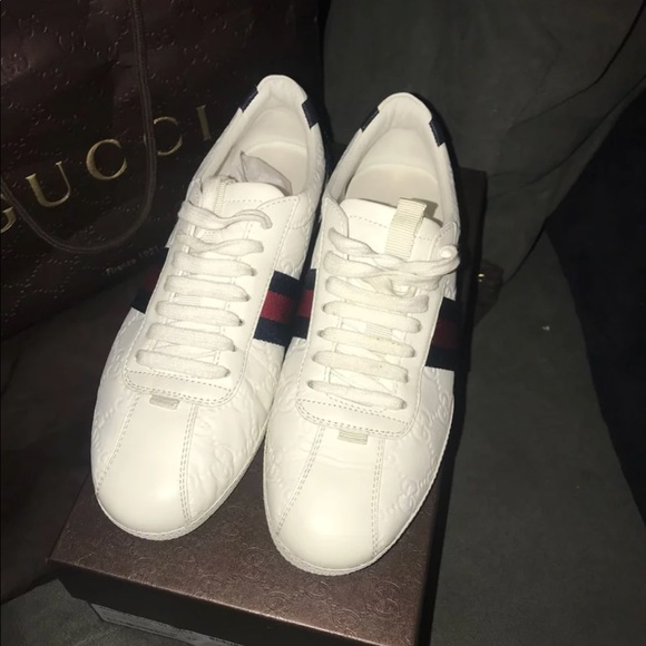1765eb327 Gucci leather lace up sneakers. M_5b565dbe7c979d4d809706ee
